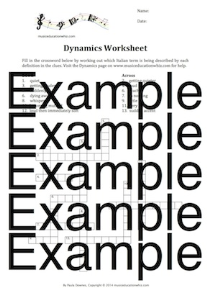 dynamics crossword worksheet