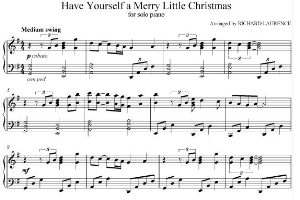 have youself a merry little christmas solo piano