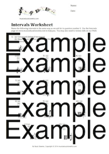 intervals worksheet