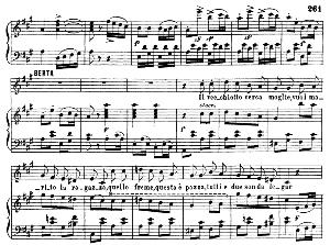 che vecchio sospettoso!...il vecchiotto cerca moglie. recitative and cavatina for soprano (berta). g. rossini: il barbiere de siviglia, act ii sc. 6. vocal score, ed. ricordi (1869). italian..