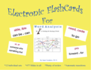 Word Analysis - Flash Cards | Other Files | Presentations