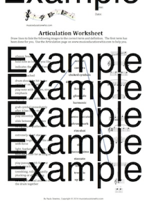 Articulation Worksheet | Music | Children
