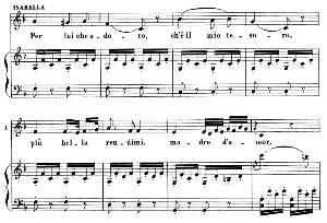 Per lui che adoro. Aria for Mezzo (Isabella). G. Rossini: L'italiana in Algeri. Vocal Score. Ed. Ricordi. 1891 (PD). Italian. | eBooks | Sheet Music