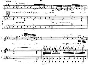 nacqui all affano... aria (cantilena) for mezzo (cenerentola). g. rossini: la cenerentola. vocal score. ed. ricordi (pd). italian.