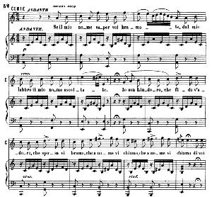 se il mio nome saper bramate. aria for tenor (conte). g. rossini: il barbiere di siviglia (the barber of seville). vocal score. ed. ricordi, 1869 (pd). italian.