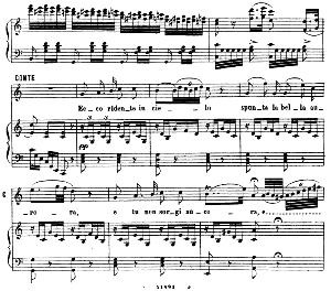 ecco ridente in cielo. aria for tenor (conte). g. rossini: il barbiere di siviglia (the barber of seville). vocal score. ed. ricordi 1869 (pd).italian.