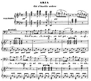 gia d'insolito ardore. recitative and aria for baritone (mustafa). g. rossini: l'italiana in algeri. vocal score. ed. ricordi. 1891 (pd).italian.