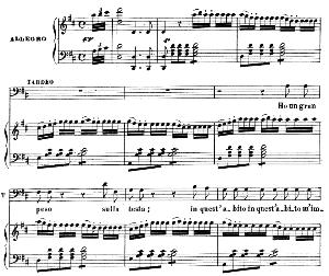 Ho un gran peso. Recitative and Aria for Baritone (Taddeo). G. Rossini: L'italiana in Algeri. Vocal Score. Ed. Ricordi. 1891 (PD).Italian. | eBooks | Sheet Music