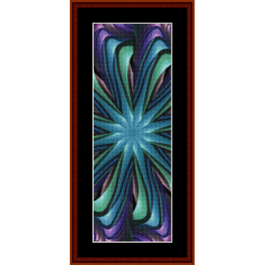 fractal 470 bookmark cross stitch pattern by cross stitch collectibles