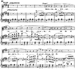 della crudele isotta : cavatina for soprano (adina). g. donizetti: l'elisir d'amore, vocal score, ed. ricordi (1869). italian
