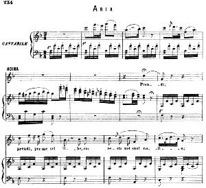 prendi, per me sei libero : aria for soprano (adina). g. donizetti: l'elisir d'amore, vocal score, ed. ricordi (1869). italian).