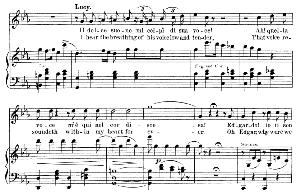 il dolce suono mi colpi di sua voce: soprano aria (lucia). g. donizetti: lucia di lamermoor, vocal score, ed. schirmer (1898). italian/english.