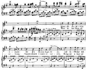 Quando rapito in estasi: Soprano Aria (Lucia). G. Donizetti: Lucia di lamermoor, Vocal Score, Ed. Schirmer (1898). Italian.English. | eBooks | Sheet Music