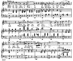 spargi d'amaro pianto: soprano aria (lucia). g. donizetti: lucia di lamermoor, vocal score, ed. schirmer (1898). italian/english
