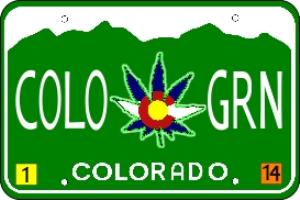 colorado marijuana license plate