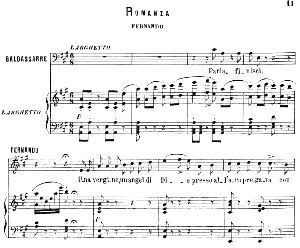 una vergine, una angel di dio: romance for tenor (fernando). g. donizetti: la favorita, vocal score, ed. ricordi (1879). pd. italian.