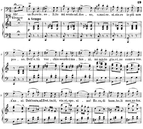 First Additional product image for - Ah, un foco insolito: Cavatina for Bass (Don Pasquale). G. Donizetti: Don Pasquale . Vocal Score, Ed. Ricordi (1870).PD. Italian