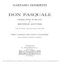 Ah, un foco insolito: Cavatina for Bass (Don Pasquale). G. Donizetti: Don Pasquale . Vocal Score, Ed. Ricordi (1870).PD. Italian | eBooks | Sheet Music