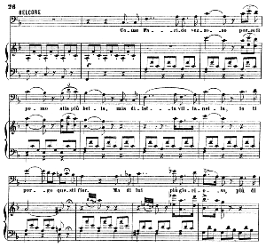 come paride vezzoso: cavatina for bass or baritone (belcore) . g. donizetti: l'elisir d'amore.vocal score, ed. ricordi (1869). pd. italian