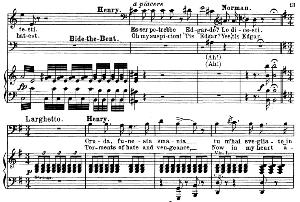 cruda, funesta smania: aria for baritone (enrico ashton)  . g. donizetti: lucia di lamermoor, . vocal score, ed. schirmer (1898). pd. italian/english.