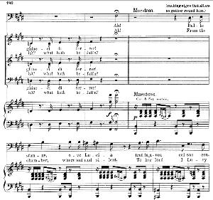 dalle stanze, ove lucia: aria (raimondo bidebent) . g. donizetti: lucia di lamermoor. vocal score, ed. schirmer (1898). pd. italian