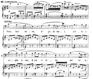 """vien, leonora, a piedi tuoi aria (alfonso xi).. with recitative """"ma de'malvagi in van..."""" g. donizetti: la favorita,  vocal score, ed. ricordi (1879). italian"""