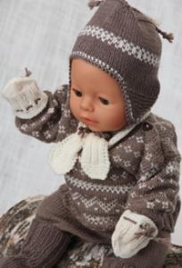 dollknittingpatterns - 0120d theo genser, bukse, sokker, lue, skjerf og votter  (norsk)