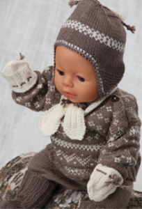 DollKnittingPatterns -0120D THEO - Trui, Lange Broek, Sokjes, Muts, Sjaal en Wantjes | Crafting | Knitting | Baby and Child