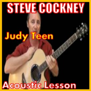 learn to play judy teen by steve harley and cockney rebels on the acoustic guitar