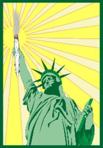 marijuana joint holding statue of liberty