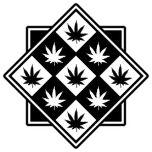 marijuana leaf diamonds