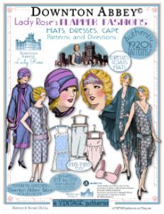 lady rose's flapper fashions-downtonabbeyed-bklet 1920's fashions patterns