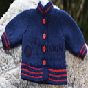 DollKnittingPatterns - 2014 Julehilsen - Jakke (Norsk) | Crafting | Knitting | Baby and Child