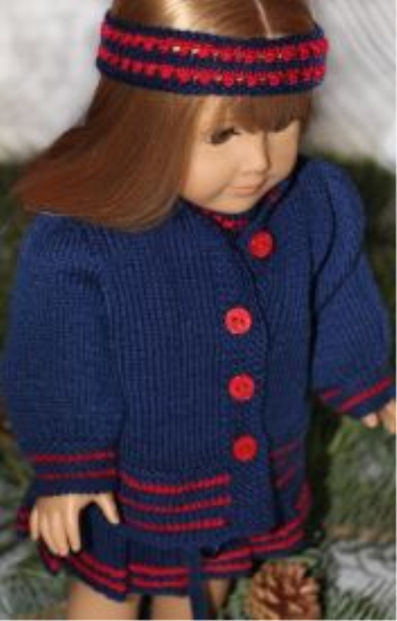 First Additional product image for - DollKnittingPatterns - 2014 Christmas greeting - Jacket (English)