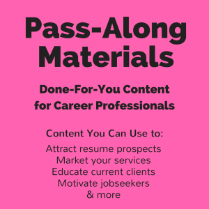 holiday job search pass-along materials