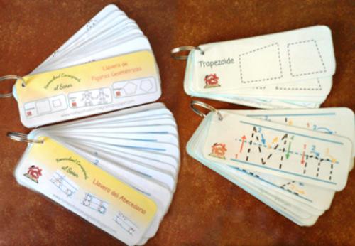 First Additional product image for - HCS - Llaveros didacticos abecedario y figurar