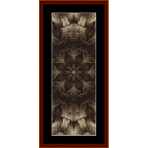 fractal 477 bookmark cross stitch pattern by cross stitch collectibles