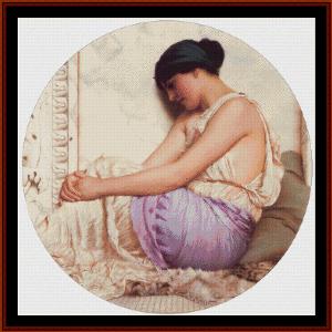 a grecian girl - godward cross stitch pattern by cross stitch collectibles