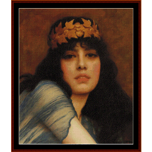 The Priestess, 1896 - Godward cross stitch pattern by Cross Stitch Collectibles | Crafting | Cross-Stitch | Wall Hangings
