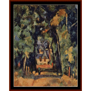 alley at chantilly - cezanne cross stitch pattern by cross stitch collectibles