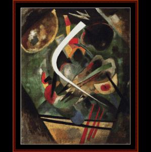 White Stroke, 1920 - Kandinsky cross stitch pattern by Cross Stitch Collectible | Crafting | Cross-Stitch | Wall Hangings