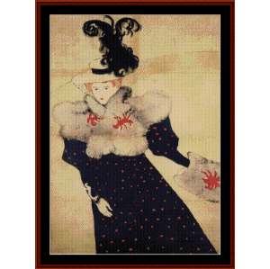 Revue Blanche - Lautrec cross stitch pattern by Cross Stitch Collectibles | Crafting | Cross-Stitch | Wall Hangings