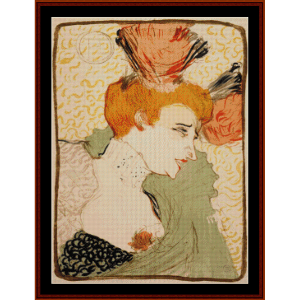 marcelle lender, 1895 - lautrec cross stitch pattern by cross stitch collectibles