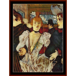 goule arriving at moulin rouge - lautrec cross stitch pattern by cross stitch collectibles