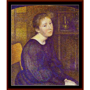 Portrait of Mme. Lemmen - Lemmen cross stitch pattern by Cross Stitch Collectibles | Crafting | Cross-Stitch | Wall Hangings