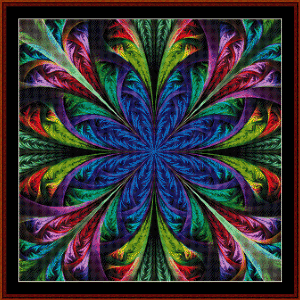 fractal 473 cross stitch pattern by cross stitch collectibles