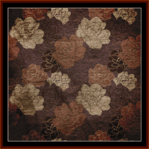 vintage floral - abstract cross stitch pattern by cross stitch collectibles