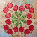 Tulips Filigree Machine Embroidery 4x4 - PES | Crafting | Embroidery