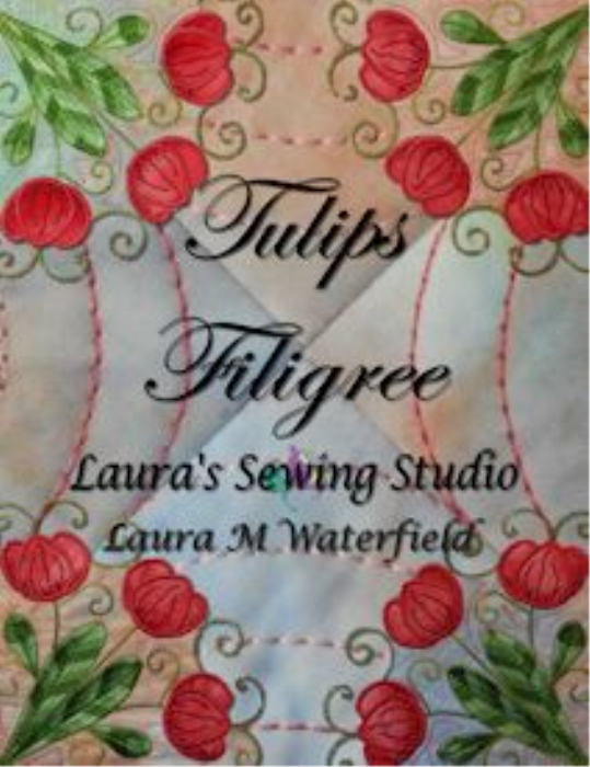 First Additional product image for - Tulips Filigree Machine Embroidery 4x4 - XXX