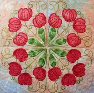 tulips filigree machine embroidery all - xxx